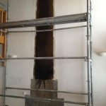 Demolition and installation of a new chimney in Sainte Foy Tarentaise