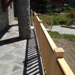 Exterior landscaping for a chalet in Sainte Foy Tarentaise