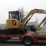 La pelle mécanique (excavateur) Caterpillar de Sainte Foy Construction, BTP en Savoie