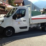 SAINTE FOY CONSTRUCTION, builder in Savoie has a new tipper truck 3,5 tonnes
